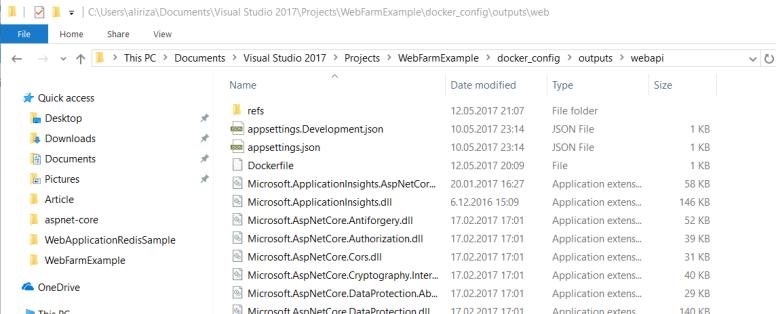 powershell script web api publish